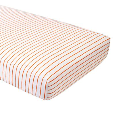Wild Excursion Orange Stripe Fitted Crib Sheet