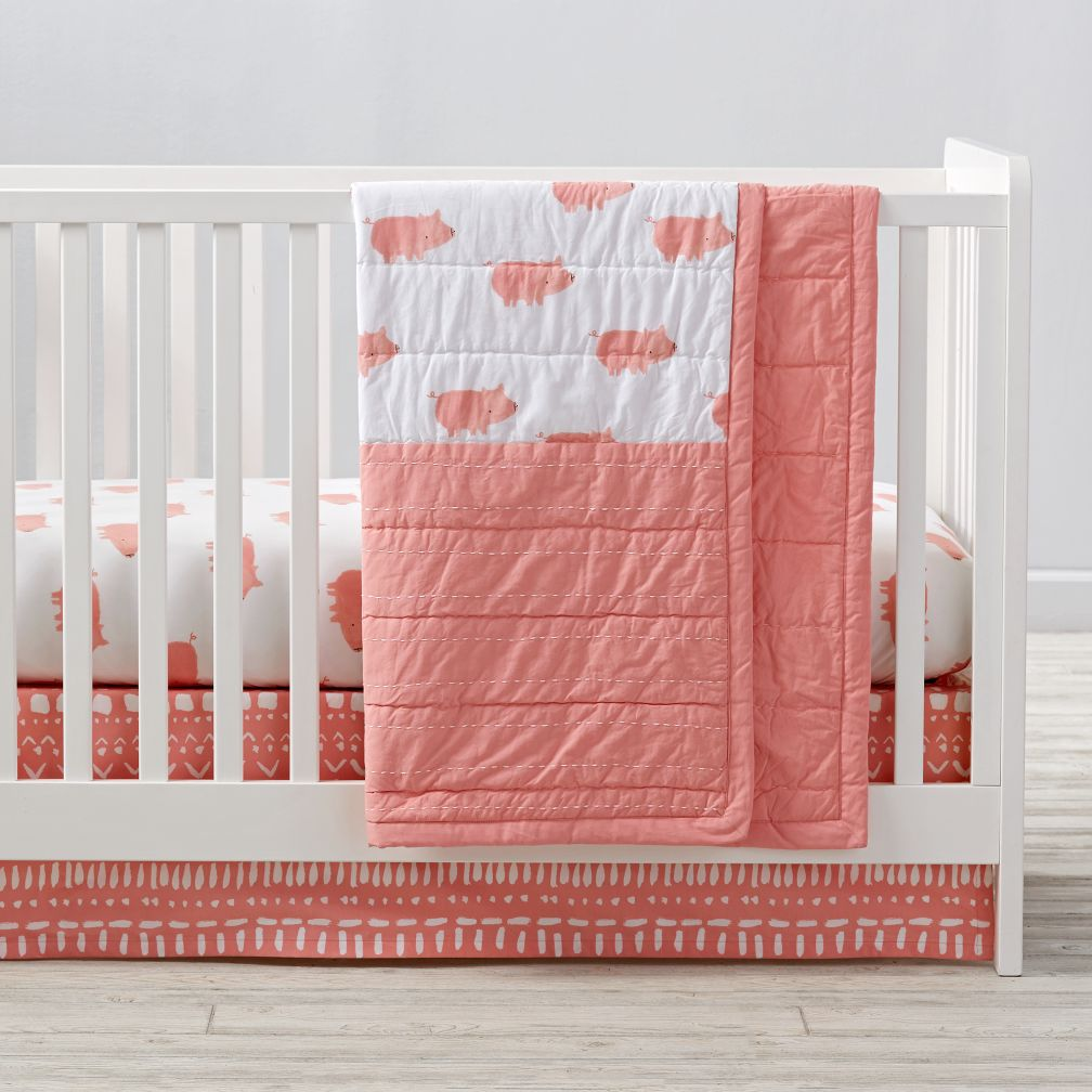 Wild Excursion Pig Crib Bedding and Quilt