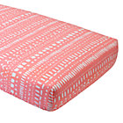 Pink Tribal Fitted Crib Sheet