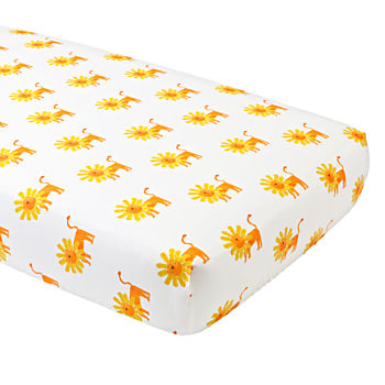 Organic Wild Excursion Lion Crib Fitted Sheet
