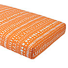 Orange Tribal Fitted Crib Sheet