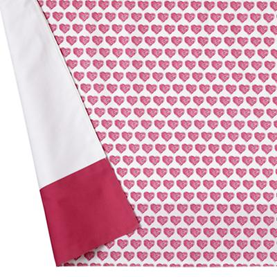 Fine Prints Crib Skirt (Pink Heart)