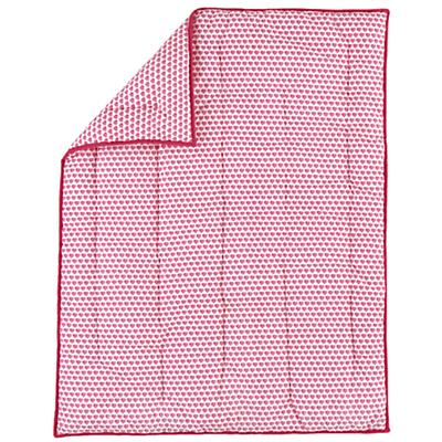 Fine Prints Crib Quilt (Pink Hearts)