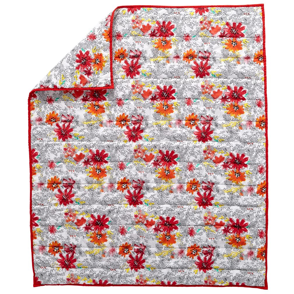 Floral Pop Baby Quilt