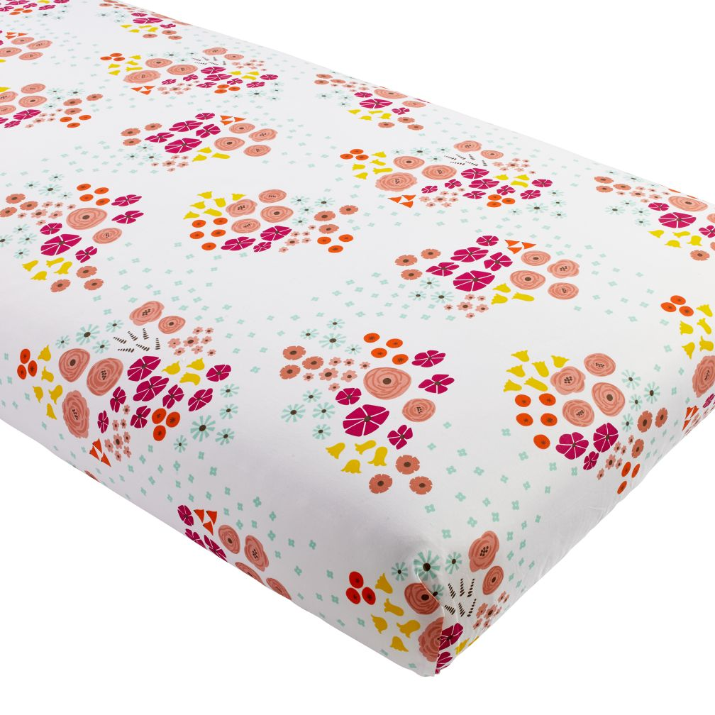 Flower Show Crib Fitted Sheet