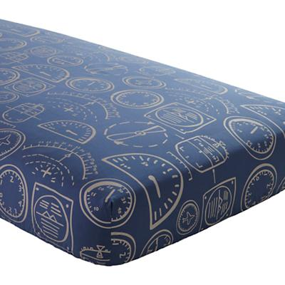 Dk. Blue Gauges Crib Fitted Sheet