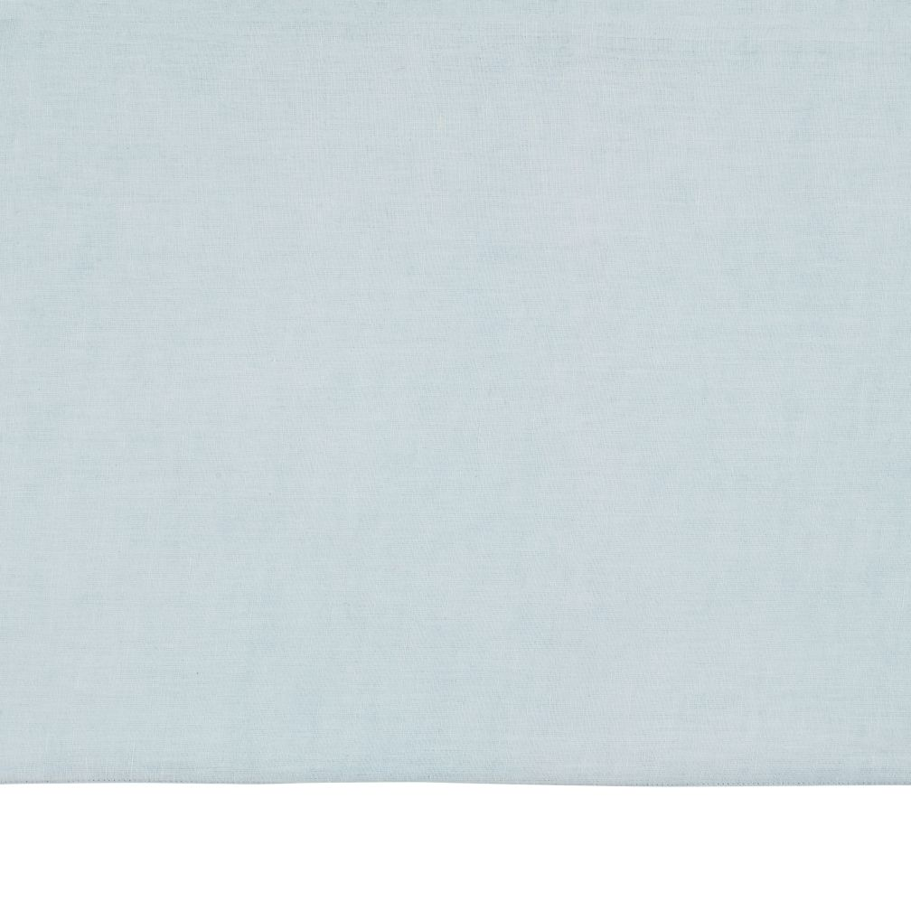 Fresh Linen Crib Skirt (Light Blue)