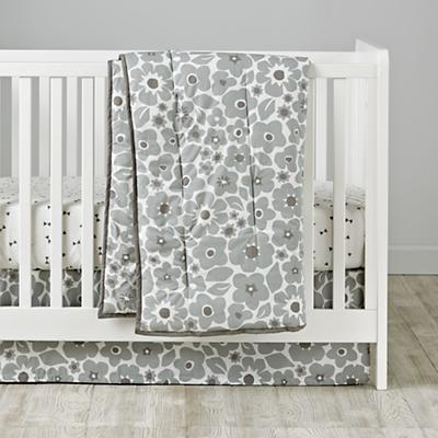 Go Lightly Crib Bedding (Grey)