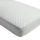 Mint Dot Go Lightly Crib Fitted Sheet