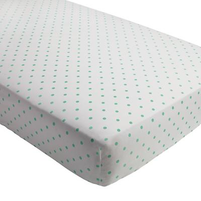 Go Lightly Crib Fitted Sheet ( Mint Dot)