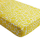 Yellow Floral Go Lightly Crib Fitted Sheet