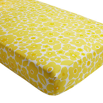Go Lightly Crib Fitted Sheet (Yellow Floral)