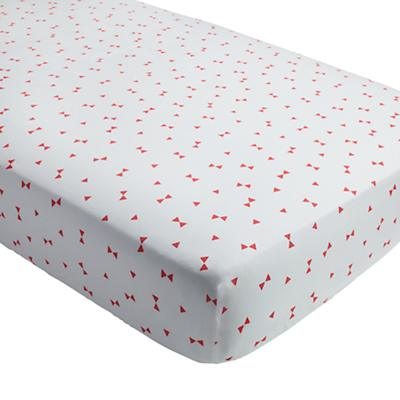 Go Lightly Crib Fitted Sheet (Pink Triangle)