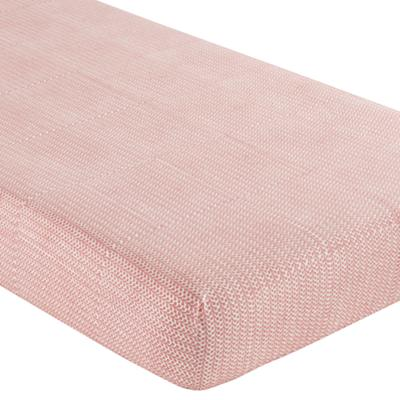 Crib Fitted Sheet (Pink Leaf)