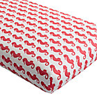 Seahorse High Seas Crib Fitted Sheet