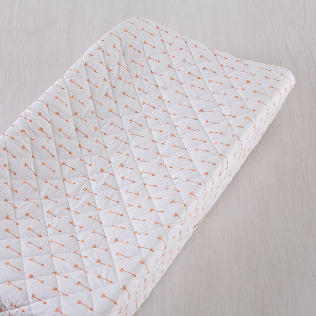 Iconic Orange Arrows Changing Pad Cover The Land Of Nod