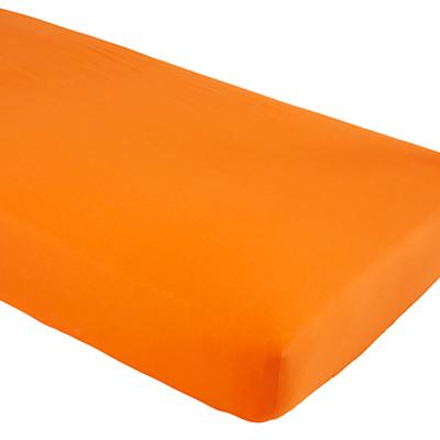 Iconic Crib Fitted Sheet (Orange)