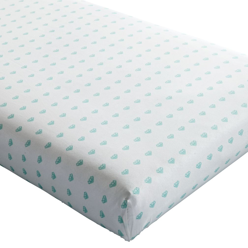Iconic Fitted Crib Sheet (Gemstone)