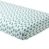 Little Prints Crib Fitted Sheet (Green Dino)