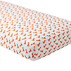 Orange Dinosaur Little Prints Crib Fitted Sheet