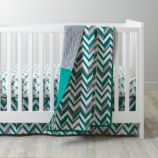 Little Prints Baby Quilt (Green)