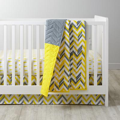 Little Prints Crib Bedding (Yellow)