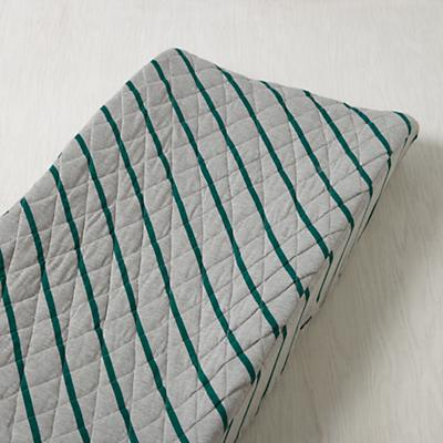 Little Prints Changing Pad Cover (Green Jersey Stripe)