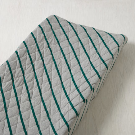 Little Prints Changing Pad Cover (Green Jersey) - Green Jersey Stripe Little Prints Changing Pad Cover