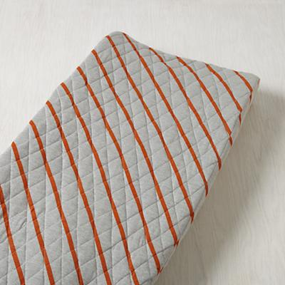 Little Prints Changing Pad Cover (Orange Jersey Stripe)