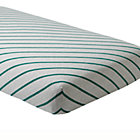 Green Stripe Little Prints Crib Fitted Sheet