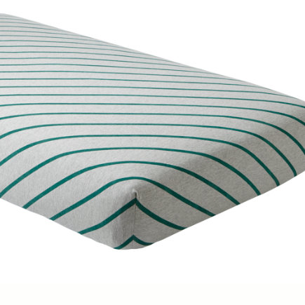 Little Prints Crib Sheet (Green Stripes) - Green Stripe Little Prints Crib Fitted Sheet