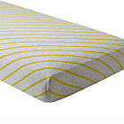 Yellow Stripe Little Prints Crib Fitted Sheet