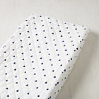 Blue Triangle Little Prints Changing Pad Cover