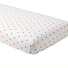 Orange Triangle Little Prints Crib Fitted Sheet