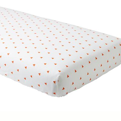 Little Prints Crib Sheet (Orange Triangle)