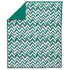 Green Little Prints Zig Zag Baby Quilt