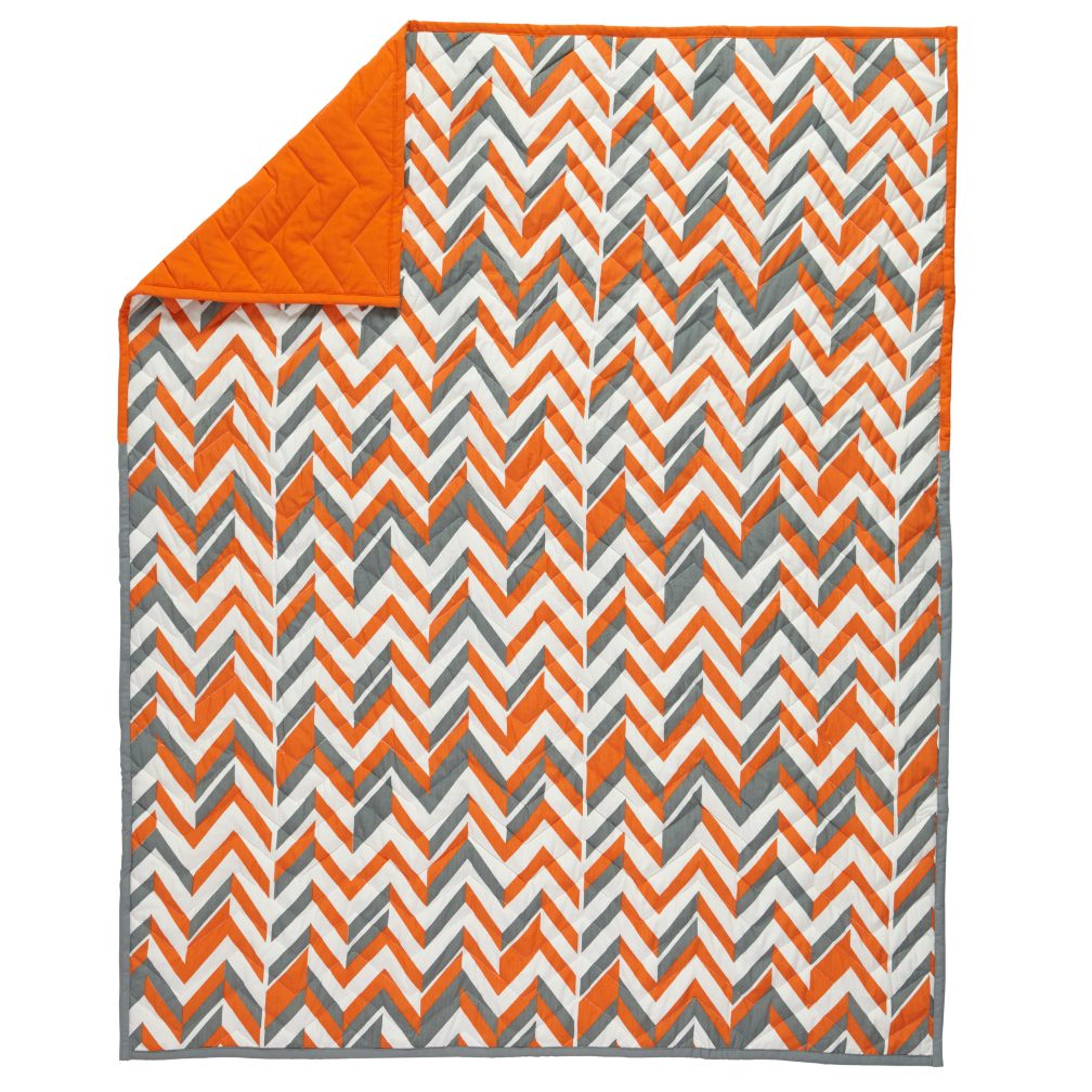Little Prints Baby Quilt (Orange)