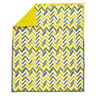 Yellow Little Prints Zig Zag Baby Quilt