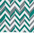 Green LIttle Prints Zig Zag Crib Skirt