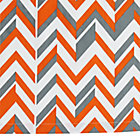 Orange Little Prints Zig Zag Crib Skirt