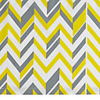 Yellow LIttle Prints Zig Zag Crib Skirt