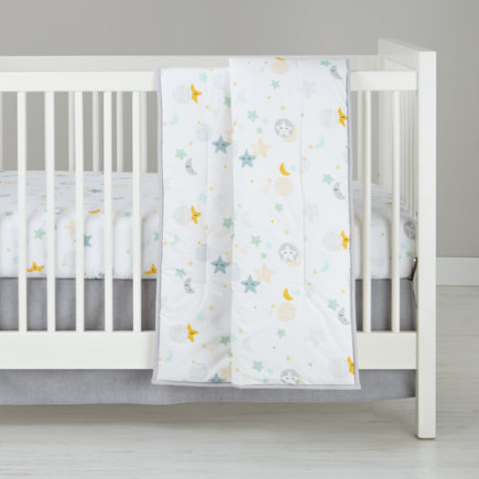 Lullaby Moon And Star Crib Bedding Quilt