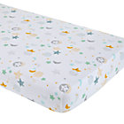 Multi Star & Moon Crib Fitted Sheet