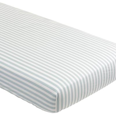 Crib Fitted Sheet (Blue Stripe)