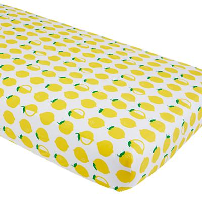 Farmer's Market Crib Fitted Sheet (Lemon)