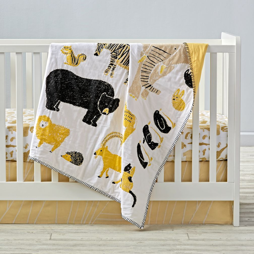 Menagerie Crib Bedding and Quilt