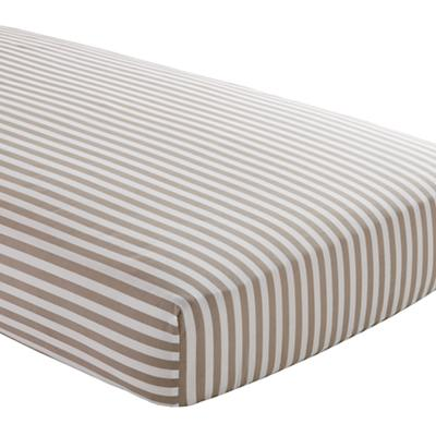 In the Mix Crib Fitted Sheet (Khaki Stripe)