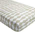 Mod Botanical Grey Diamond Crib Fitted Sheet