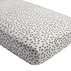 Mod Botanical Grey Dot Crib Fitted Sheet