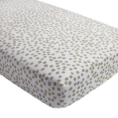 Mod Botanical Crib Fitted Sheet (Grey Dot)
